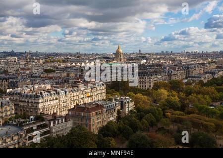 Paris from Tour Eiffel - Stock Photo