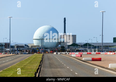 Dounreay nuclear power plant and facilities, in decommission phase, near Thurso, Scotland - Stock Photo