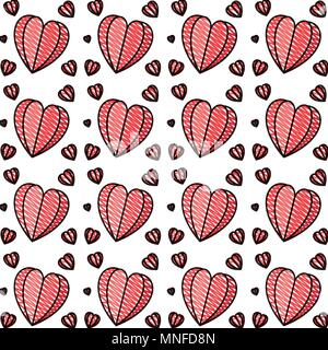 hearts love pattern background - Stock Photo