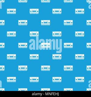 Compartment carriage pattern vector seamless blue - Stock Photo