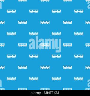 Passenger carriage pattern vector seamless blue - Stock Photo