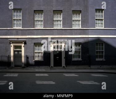by John Angerson. The Door of 10 Downing Street, London, UK. - Stock Photo