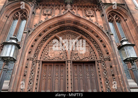 John Rylands Library, Deansgate, Manchester, Lancashire, England, UK - Stock Photo
