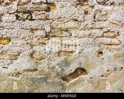 old brick wall texture urban background - Stock Photo