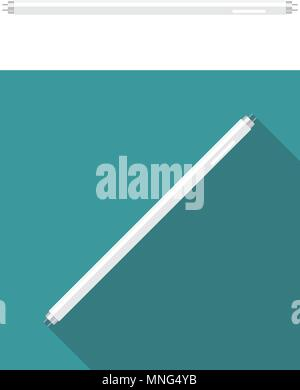 Fluorescent tube lamp. Vector illustration - Stock Photo