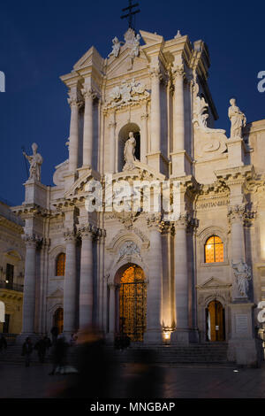 Cathedral (Duomo) of Siracusa, Sicily, Italy. - Stock Photo