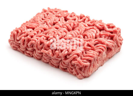 Raw minced beef meat isolated on white - Stock Photo