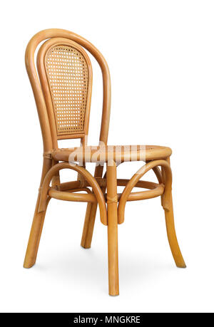 Rattan chair isolated on white - Stock Photo