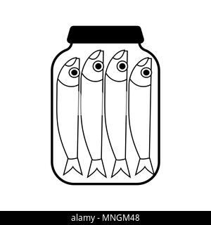 Canned fish isolated. seafood tin. Vector illustration - Stock Photo