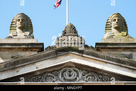 Exterior of the Royal Scottish Academy, art museum , on The Mound in Edinburgh, Scotland, United Kingdom, UK. - Stock Photo