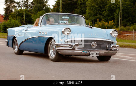 Vasteras, Sweden - July 5, 2013: One Buick Special 1956 during cruising parade at the Power Big Meet event - Stock Photo