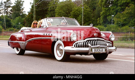 Vasteras, Sweden - July 5, 2013: One Buick Roadmaster 1949 during cruising parade at the Power Big Meet event - Stock Photo