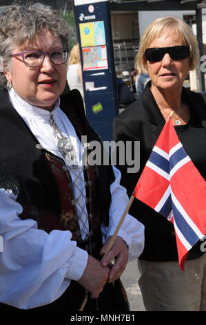 Copenhagen/Denmark 17..May 2018_ Norwegain celebrate thier national day on 17 may 2018 norwegian with national dress and with thier norwegain flag in Copenhagen..       (Photo.Francis Joseph Dean / Deanpictures. - Stock Photo
