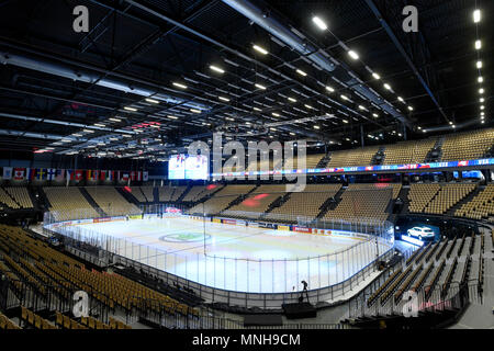 Herning, Denmark. 17th May, 2018. The Jyske Bank Boxen indoor arena is seen prior to the Ice Hockey World Championships quarterfinal match USA vs Czech Republic, in Herning, Denmark, on May 17, 2018. Credit: Ondrej Deml/CTK Photo/Alamy Live News - Stock Photo