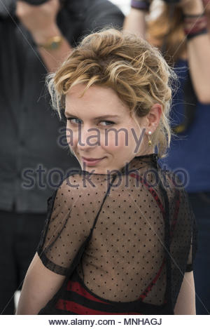 Cannes, France. 17th May, 2018. Actress Elena Radonicich attends the photocall for 'In My Room' at Palais des Festivals during the 71st Annual Cannes Film Festival on May 17, 2018. (c) copyright Credit: CrowdSpark/Alamy Live News - Stock Photo