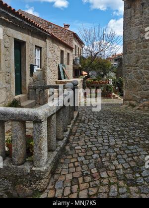 Monsanto Village streets in Castelo Branco, Portugal - Stock Photo