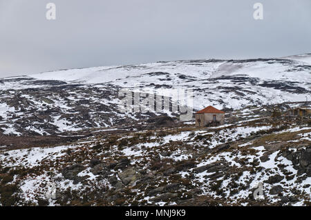 Mountains of Serra da Estrela. Portugal - Stock Photo