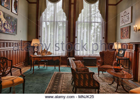 The Northern Room inside the Ontario Legislative Building. The Ontario Legislative Building houses the viceregal suite of the Lieutenant Governor of O - Stock Photo