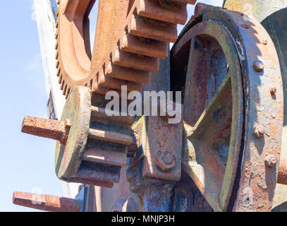 Cast Iron Gantry Crane With Wooden Jib Or Boom Showing The Original