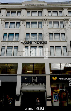 Hotel Indigo Cardiff, Dominions Arcade, Cardiff. An IHG Hotel. Pictures show interiors design and  exteriors - Stock Photo