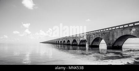 Long Bridge at Florida Key's - Historic Overseas Highway And 7 Mile Bridge to get to Key West, Florida, USA - Stock Photo