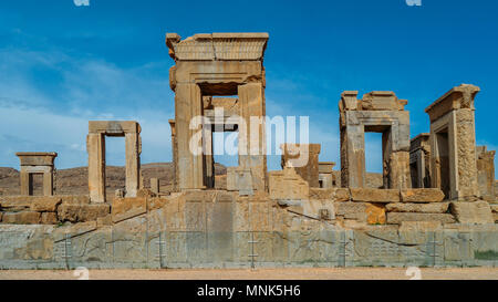 Persepolis, Iran - April 28, 2018: Persepolis was the ceremonial capital of the Achaemenid Empire ca. 550 330 BC - Stock Photo