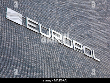 Amsterdam, Netherlands -february 11, 2018: Facade of the europol building in the hague, Netherlands - Stock Photo