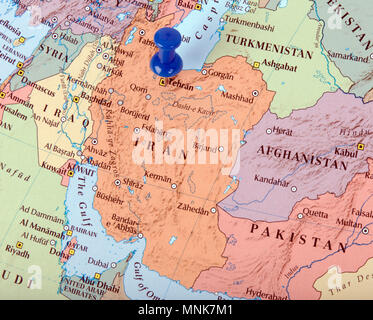 the hague, Netherlands-march 16, 2016: Iran or Persia, the Islamic Republic of Iran is a country in the middle east - Stock Photo