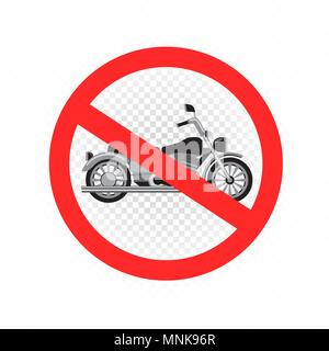 no chopper motorcycle sign icon - Stock Photo