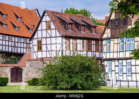 historische Altstadt von Quedlinburg Harz - Stock Photo