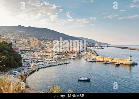 Bastia Port, Corsica France - Stock Photo