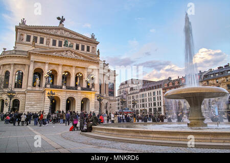 Old Opera Frankfurt Main Germany - Stock Photo