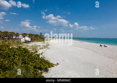 Beach at Gasparilla Island State Park on Gasparilla Island one of the Gulf Coast barrier islands. - Stock Photo
