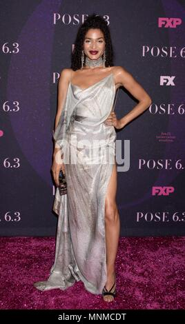 New York, NY, USA. 17th May, 2018. Indya Moore at arrivals for POSE Series Premiere on FX, Hammerstein Ballroom at Manhattan Center, New York, NY May 17, 2018. Credit: RCF/Everett Collection/Alamy Live News - Stock Photo