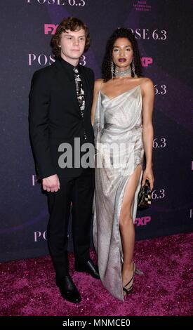 New York, NY, USA. 17th May, 2018. Evan Peters, Indya Moore at arrivals for POSE Series Premiere on FX, Hammerstein Ballroom at Manhattan Center, New York, NY May 17, 2018. Credit: RCF/Everett Collection/Alamy Live News - Stock Photo