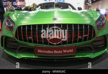 London UK 18 May 2018  UK's largest automotive retail event, The Confused.com London Motor Show ,the  event for car lovers. With over 150 new vehicles, a packed program of talks and demonstrations, great family entertainment and much much more! at the London Excel center@Paul Quezada-Neiman/Alamy Live News - Stock Photo