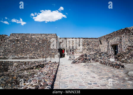Palace of Quetzalpapálotl, Teotihuacan, former pre-Columbian city and an archaeological complex northeast of Mexico City, Mexico - Stock Photo