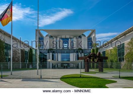 Bundeskanzleramt - The German Federal Chancellery in Berlin - Stock Photo