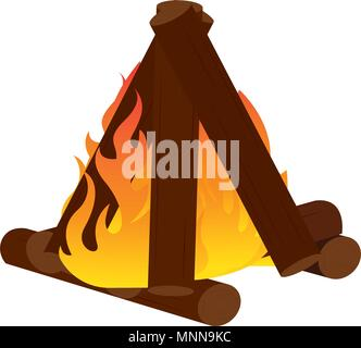 Abtract nature campfire - Stock Photo