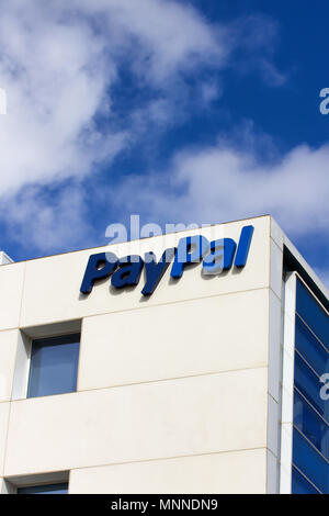 SAN JOSE, CA/USA - MARCH 1, 2014:  PayPal Corporate Headquarters and sign. - Stock Photo
