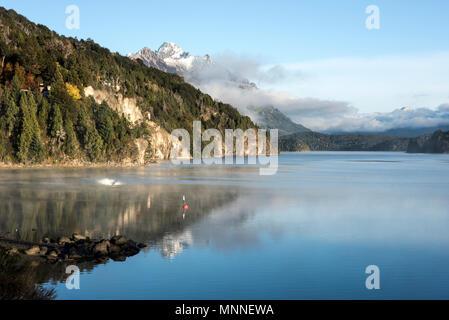 Autumn Colors in Nahuel Huapi lake, Patagonia - Argentina, near Bariloche - Stock Photo