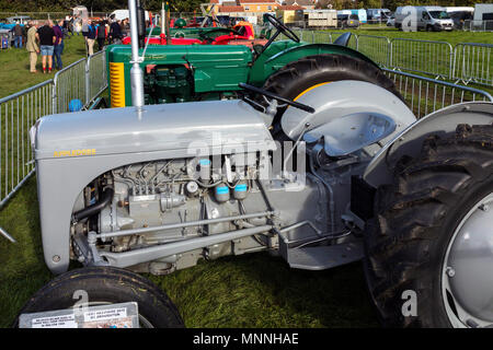 Tractor display at Stokesley Show, North Yorkshire, England, UK - Stock Photo
