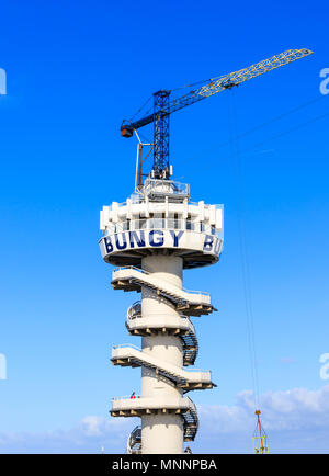 Scheveningen, The Hague, Netherlands, 23 October 2017 - Bungy Jump At Scheveningen - Stock Photo