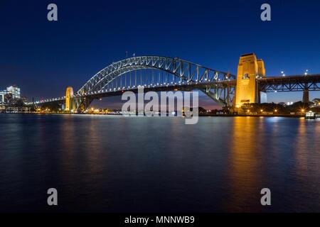 Sydney Harbour Bridge on Sydney Harbour in Australia. - Stock Photo