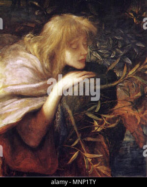. Ophelia . 1864.   George Frederic Watts (1817–1904)   Description British painter and sculptor  Date of birth/death 23 February 1817 1 June 1904  Location of birth/death London Limnerslease bei Compton (Surrey)  Work location London, Florence, Paris, Konstantinopel  Authority control  : Q183245 VIAF:10095477 ISNI:0000 0000 8076 3251 ULAN:500026988 LCCN:n50043705 NLA:35594706 WorldCat 943 Ophelia - George Frederic Watts - Stock Photo