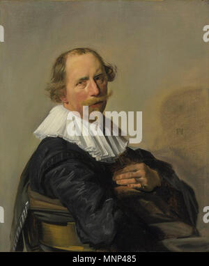 . English: Portrait of a Man, painting by Dutch master Frans Hals, early 1630s . early 1630s.   Frans Hals  (1582/1583–1666)      Alternative names Frans Franchoisz Hals  Description Dutch painter and draughtsman  Date of birth/death 1582 or 1583 26 August 1666  Location of birth/death Antwerp Haarlem  Work period between circa 1603 and circa 1666  Work location Haarlem  Authority control  : Q167654 VIAF: 100165653 ISNI: 0000 0001 1453 225X ULAN: 500027794 LCCN: n78091972 NLA: 35164870 WorldCat 953 Painting by Dutch master Frans Hals titled, Portrait of a Man, Early 1630s - Stock Photo