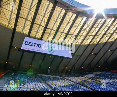 Hampden Park, Glasgow, UK. 19th May, 2018. Scottish Cup football final, Celtic versus Motherwell; General view of the scoreboard Credit: Action Plus Sports/Alamy Live News - Stock Photo