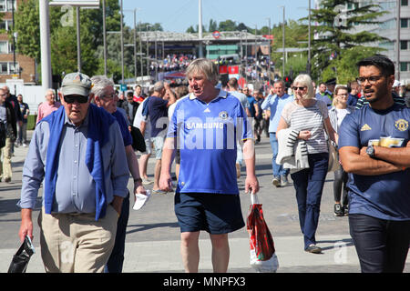 London, UK. 19th May 2018. Chelsea Fan Credit: Alex Cavendish/Alamy Live News - Stock Photo
