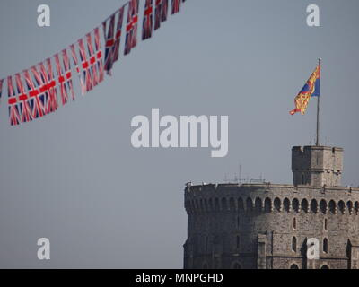 Windsor, UK, 19 May 2018. Royal Wedding in Windsor, 2018 Credit: Nastia M/Alamy Live News - Stock Photo