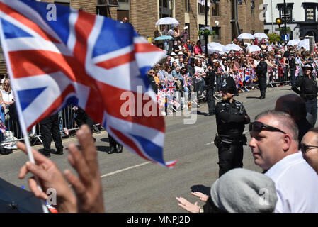 Windsor, UK. 19th May 2018. The Royal wedding in Windsor of Prince Harry and Meghan Markle. Credit: Matthew Chattle/Alamy Live News - Stock Photo